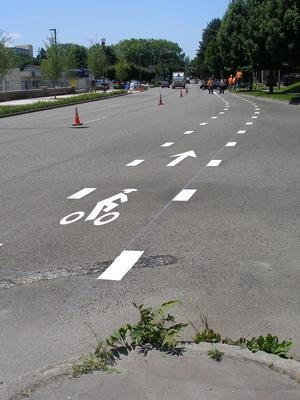 thermoplastic-bike-lane